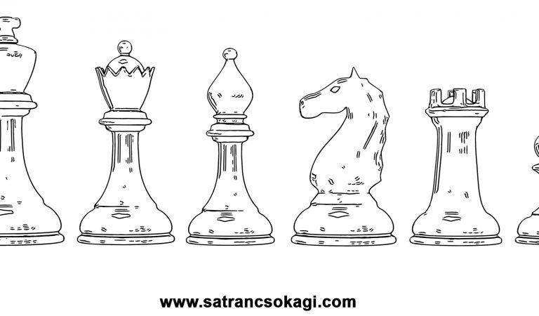 Satranç Taşları Boyama